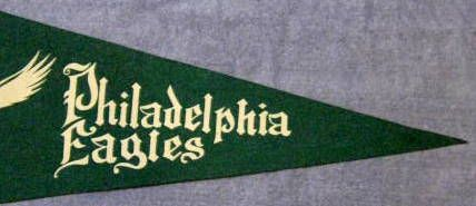 VINTAGE PHILADELPHIA EAGLES PENNANT
