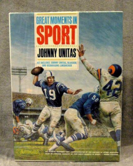 Image result for aurora johnny unitas model kit