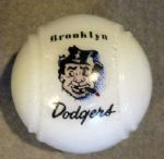 VINTAGE BROOKLYN DODGERS MILK GLASS CANDY DISH