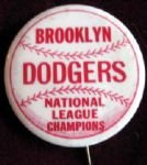 VINTAGE BROOKLYN DODGERS NATIONAL LEAGUE CHAMPIONS PIN