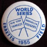 1955 WORLD SERIES PIN - YANKEES VS DODGERS