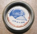"1955 BROOKLYN DODGERS ""TEN IN A ROW"" METAL ASHTRAY"