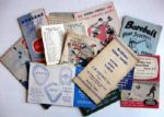 VINTAGE LOT OF 50s BROOKYN DODGERS/N.Y. YANKEES & GIANTS POCKET SCHEDULES