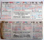 VINTAGE LOT OF TWO N.Y. BASEBALL SCHEDULE BLOTTERS-DODGERS/YANKEES/GIANTS