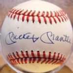 MICKEY MANTLE SINGLE SIGNED BASEBALL w/JSA LOA