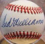 TED WILLIAMS SIGNED BALL w/JSA LOA