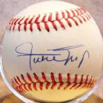 WILLIE MAYS SINGLE SIGNED ONL BASEBALL w/PSA COA