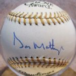 DON MATTINGLY SIGNED BASEBALL w/JSA COA