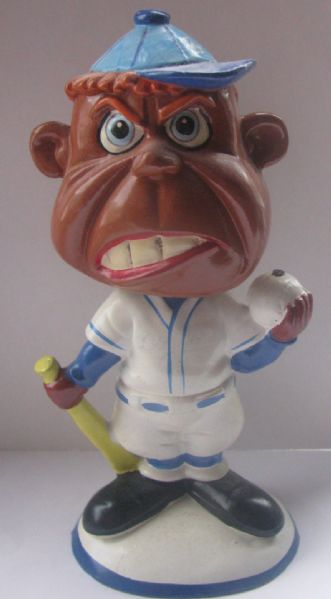 60's LOS ANGELES DODGERS WEIRDO BOBBING HEAD - SCREWBALL-BLACK VERSION