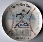 "1956 DON LARSEN SIGNED  ""PERFECT GAME"" PLATE w/SGC COA"