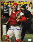 TIM McCARVER SIGNED SPORTS ILLUSTRATED W/ JSA COA