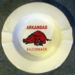VINTAGE ARKANSAS RAZORBACKS ASHTRAY