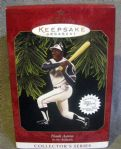 "HANK AARON ""HALLMARK COLLECTORS SERIES"" ORNAMENT"
