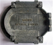 VINTAGE ILLINOIS MEMORIAL STADIUM METAL ASHTRAY