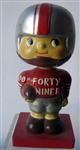 "60s SAN FRANCISCO FORTY-NINERS ""WOOD BASE"" BOBBING HEAD"