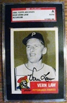 VERN LAW - PIRATES SIGNED BASEBALL CARD - SGC SLABBED & AUTHENTICATED