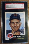 ROY MCMILLAN - REDS SIGNED BASEBALL CARD - SGC SLABBED & AUTHENTICATED