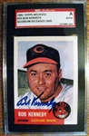 BOB KENNEDY - INDIANS SIGNED BASEBALL CARD - SGC SLABBED & AUTHENTICATED