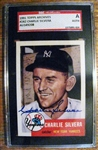CHARLIE SILVERA - NY YANKEES SIGNED BASEBALL CARD - SGC SLABBED & AUTHENTICATED