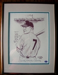 "1988 MICKEY CHARLES MANTLE SIGNED ""BILL GALLO"" PRINT w/SGC LOA"