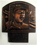 WILLIE McCOVEY SIGNED HOF PLAQUE PIN