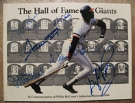 1986 HOF SIGNED GIANTS BOOK w/MAYS-McCOVEY-BLUE-MARICHALL-PERRY & CLARK - JSA LOA