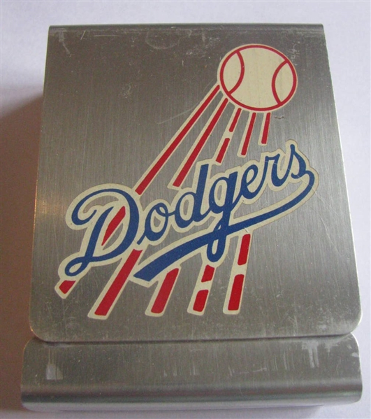 1950 BROOKLYN DODGERS CIGARETTE CASE & SCHEDULE