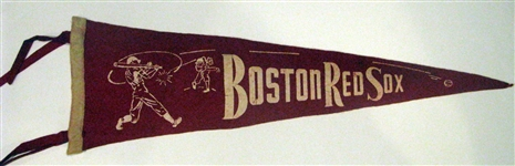 40s BOSTON RED SOX 3/4 SIZE PENNANT