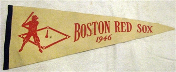 1946 BOSTON RED SOX FULL SIZED PENNANT - A.L. CHAMPIONSHIP YEAR