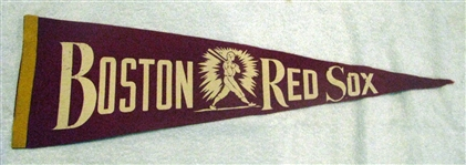 40s BOSTON RED SOX 3/4 SIZED PENNANT