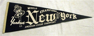 "40s NEW YORK YANKEES ""AMERICAN LEAGUE CHAMPIONS"" PENNANT"