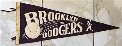 1950s BROOKLYN DODGERS FULL SIZE PENNANT