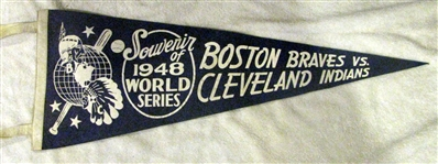 1948 WORLD SERIES PENNANT - BRAVES VS INDIANS