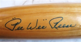 PEE WEE REESE SIGNED COOPERSTOWN PICTURE BASEBALL BAT w/COOPERSTOWN COA
