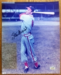 STAN MUSIAL SIGNED COLOR PHOTO w/SGC COA
