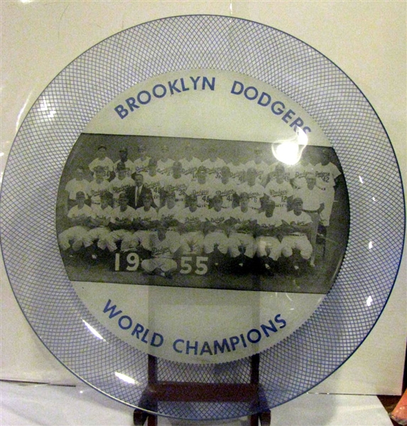 1955 BROOKYLN DODGERS CHARGER PLATE