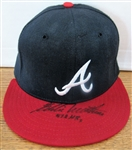 "EDDIE MATHEWS ""572 HRs"" SIGNED CAP w/CAS COA"
