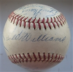 1959 AMERICAN LEAGUE ALL-STAR GAME BASEBALL-14 SIGNATURES w/ WILLIAMS & MANTLE -CAS LOA