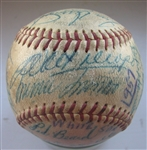 1957 CHICAGO WHITE SOX TEAM SIGNED BASEBALL - 31 SIGNATURES w/CAS LOA