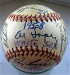 1958 CHICAGO WHITE SOX TEAM SIGNED BASEBALL - 32 SIGNATURES w/CAS LOA