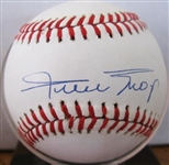 WILLIE MAYS SINGLE SIGNED ONL BASEBALL w/SGC COA