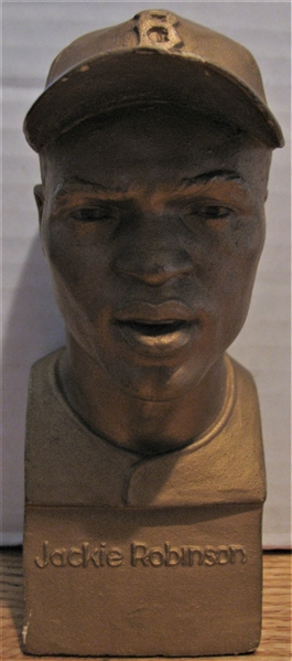 EXTREMLY RARE 40's JACKIE ROBINSON PROTOTYPE PETITO PLASTER BUST /STATUE