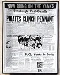 VINTAGE PITTSBURGH PIRATES CLINCH 1960 NL PENNANT - LARGE BASEBALL ASHTRAY