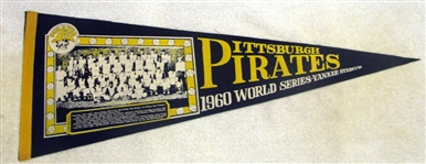 "1960 PITTSBURGH PIRATES TEAM PHOTO ""WORLD SERIES"" PENNANT"