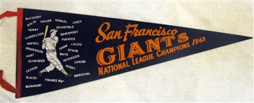 "1965 SAN FRANCISCO GIANTS ""NATIONAL LEAGUE CHAMPIONS"" PHANTOM PENNANT"