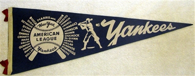 "1947 NEW YORK YANKEES ""WORLD SERIES"" PENNANT - RARE!"