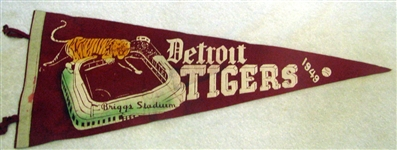 1949 DETROIT TIGERS PENNANT - TOUGHIE!