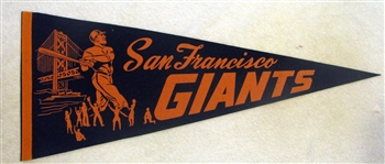 60s SAN FRANCISCO GIANTS PENNANT