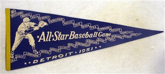 1951 ALL-STAR GAME PENNANT