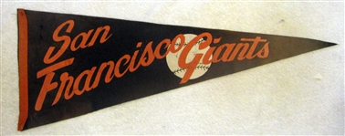 50s SAN FRANCISCO GIANTS PENNANT
